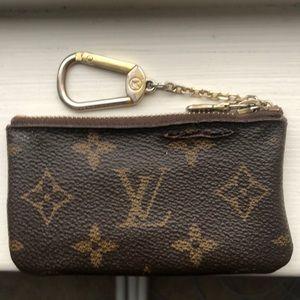 Louis Vuitton AUTHENTIC card holder key chain